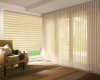 Hunter Douglas Vignette shades can be manufactured for both horizontal and vertical applications.