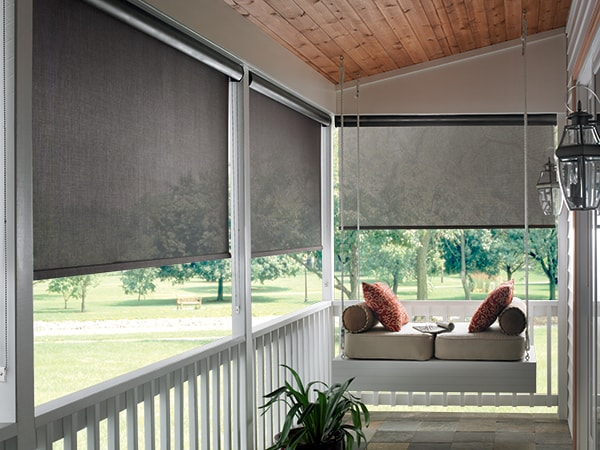 Exterior Solar Shades Ruffell Brown Window Fashions Amazing Window Blinds For Living Room Exterior