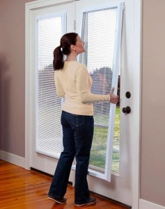 ODL Enclosed door blinds offer an easy way to add window blinds to French and patio doors.