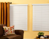 Affordable First Edition faux wood blinds give you Hunter Douglas quality at a budget-friendly price.