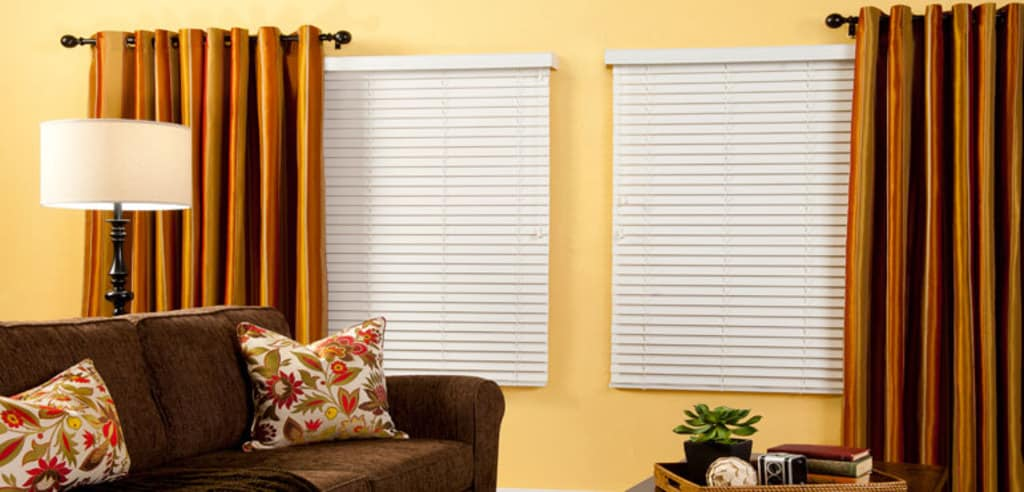 First Edition Faux Wood Blinds Ruffell Amp Brown Window