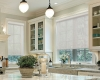 Screen roller shades are perfect for windows that need sun protection without sacrificing the view.