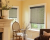 The darker the fabric of a screen roller shade, the better the visibility to the outside.
