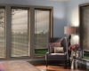 "The Magnaview option with 2"" Natural Elements horizontal blinds offer twice the view-through."