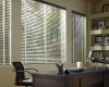 "Classic room settings are the perfect partner for Hunter Douglas's 2"" Natural Elements horizontal window blinds."