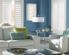 This room's decor is enhanced with the addition of these vinyl shutters.