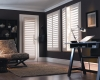 Vinyl shutters can be installed on French doors.