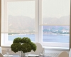 Screen roller shades block the sun's rays but don't block the view.