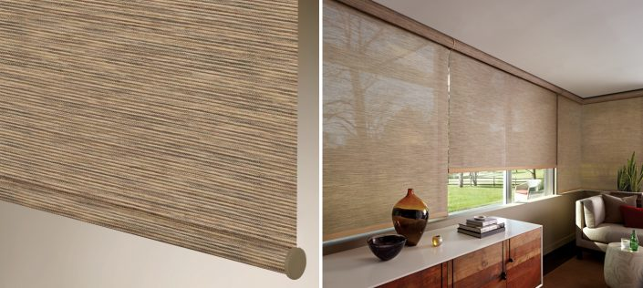 Hunter Douglas Designer Screen Shades offer excellent UV protection while maintaining your view of the outdoors.