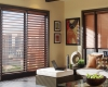 "Hunter Douglas's 2"" Natural Elements horizontal window blinds are available with PowerView motorization."
