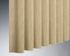 """The unique 'S"""" shape of the Hunter Douglas Cadence Soft vertical blinds are functional for light control as well as stylish."""