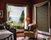 "Take in the beauty of the outdoors with the Hunter Douglas 2"" Reveal with Magnaview aluminum blinds."