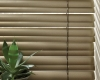 "This shows how the slats on Hunter Douglas 2"" Reveal blinds double when opened."