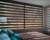 Designer Banded Shades come standard with a fabric-wrapped Square Cassette.