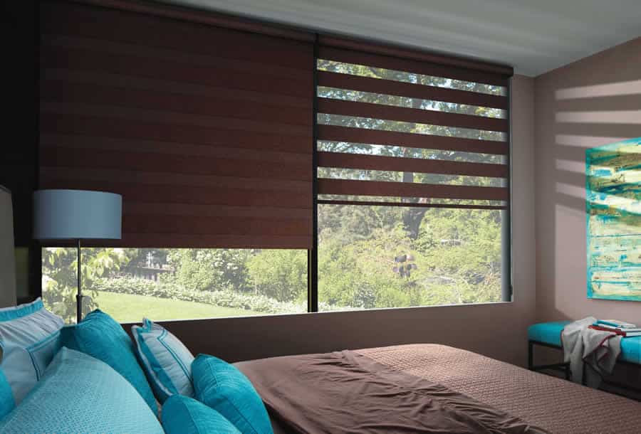 Designer Banded Shades Ruffell Amp Brown Window Fashions